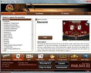 Casino Table Games screenshot Silversands